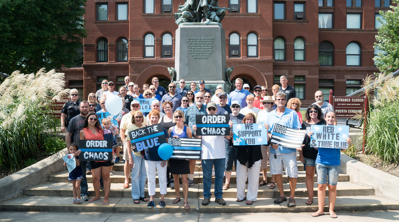 True Blue Support Rally