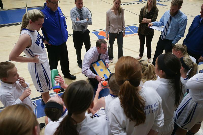 St. Charles North Girls Basketball Coach Sean Masoncup