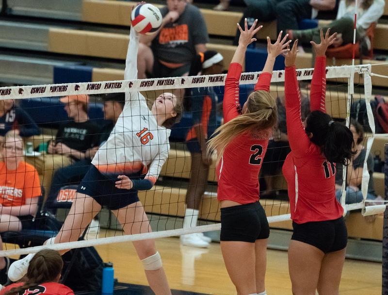 Yorkville Vs Oswego Girls Volleyball