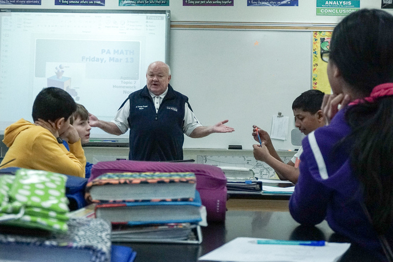 Naperville Mayor George Pradel Visits Clifford W. Crone Middle School