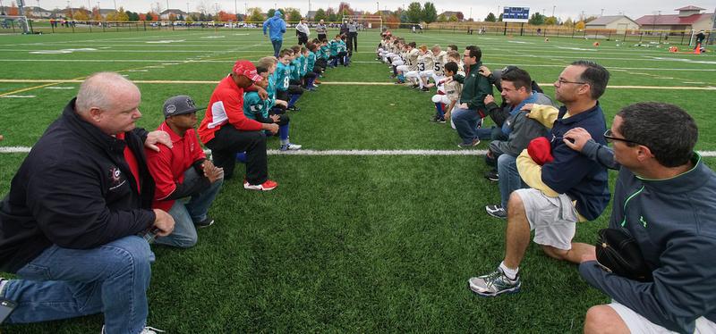 st.raphael football teams pay respect