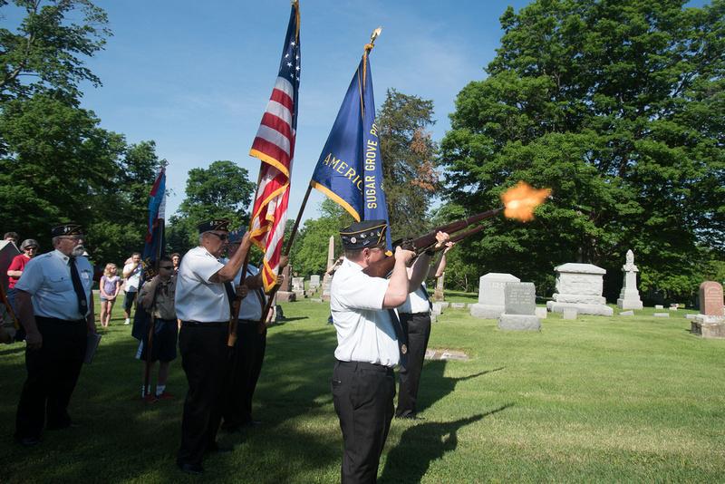 Memorial Day ceremony in Sugar Grove.