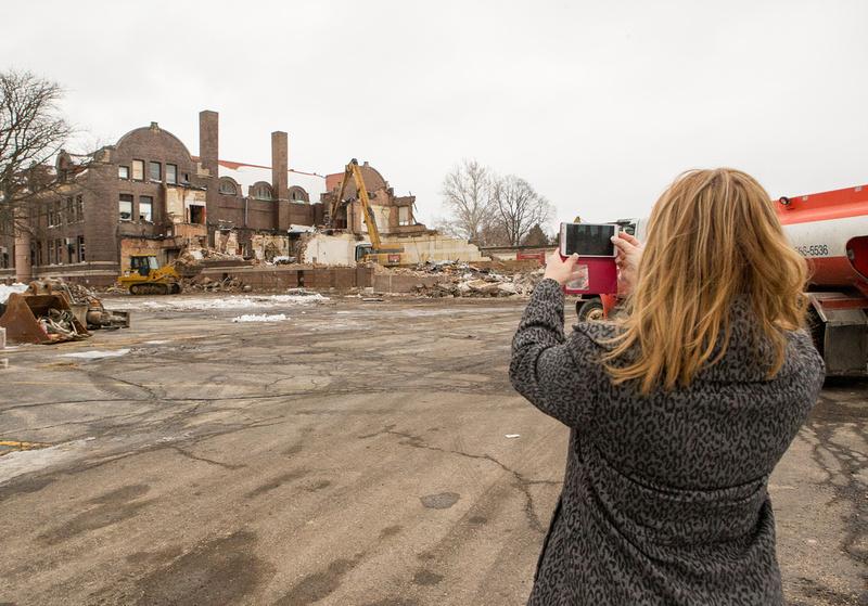 Demolition of the old West Aurora High School