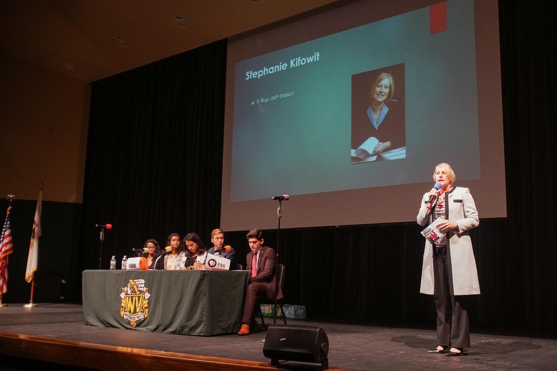 Candidates forum at Waubonsie Valley High School