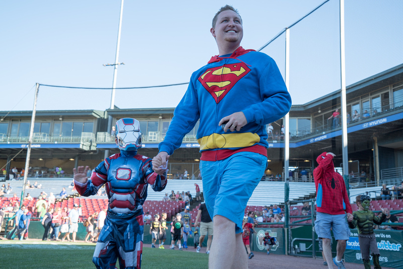 Super Hero Day at the ball park
